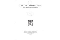 Couverture Art et Decoration 1937