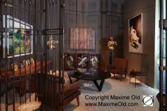 Stand Yves Gastou - Biennale 2016 Salon Maxime Old Meubles Modernes d'Art - Modern Art Furniture