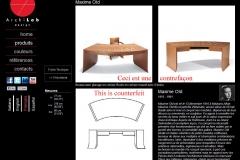 Counterfeit - Contrefaçon industrielle ArchiLab coiffeuse 514 Maxime Old