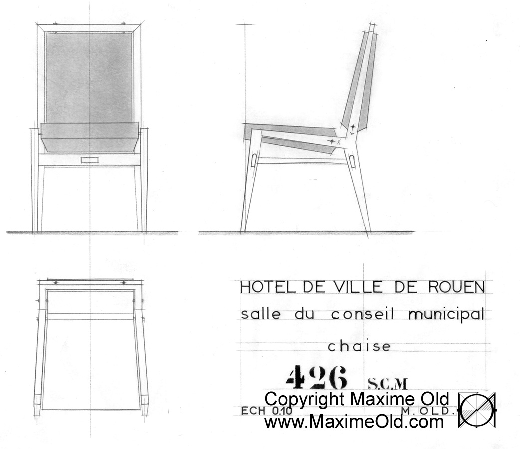 Paquebot France Council Chair Design. Maxime Old - Modern Art Furniture Designer