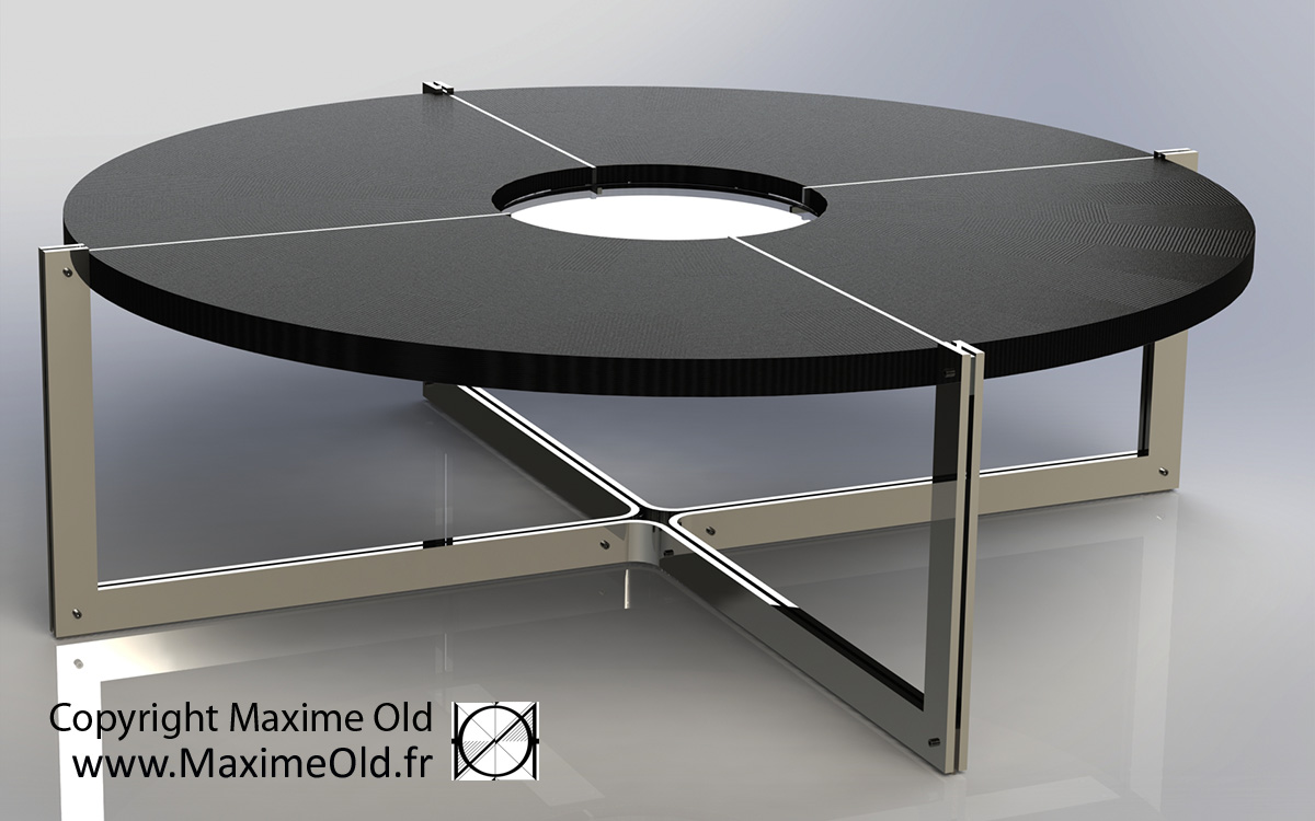 Maxime Old Compass Card Table by Maxime Old Concept