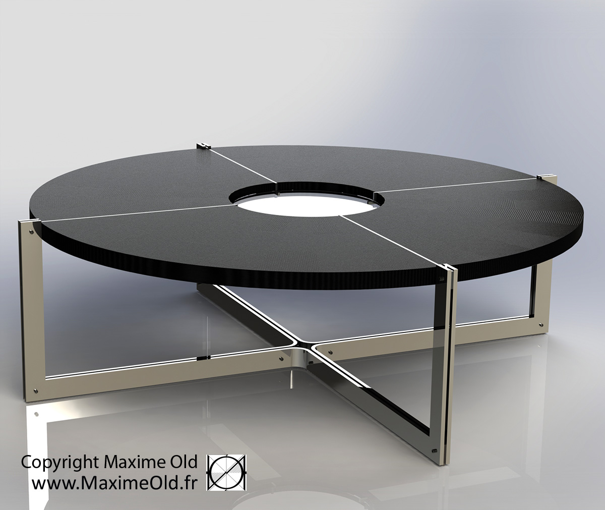 Coffee-Side Tables: Maxime Old Compass Card Table
