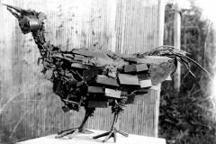 JP Demarchi sculpture oiseau posé