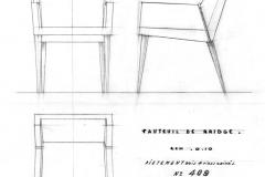 Fauteuil Bridge Pieds bois Maxime Old Créateur de Meubles Modernes d'Art - Modern Art Furniture Designer