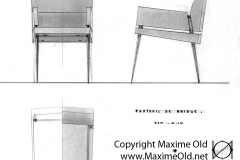 Fauteuil Bridge variante Maxime Old Créateur de Meubles Modernes d'Art - Modern Art Furniture Designer