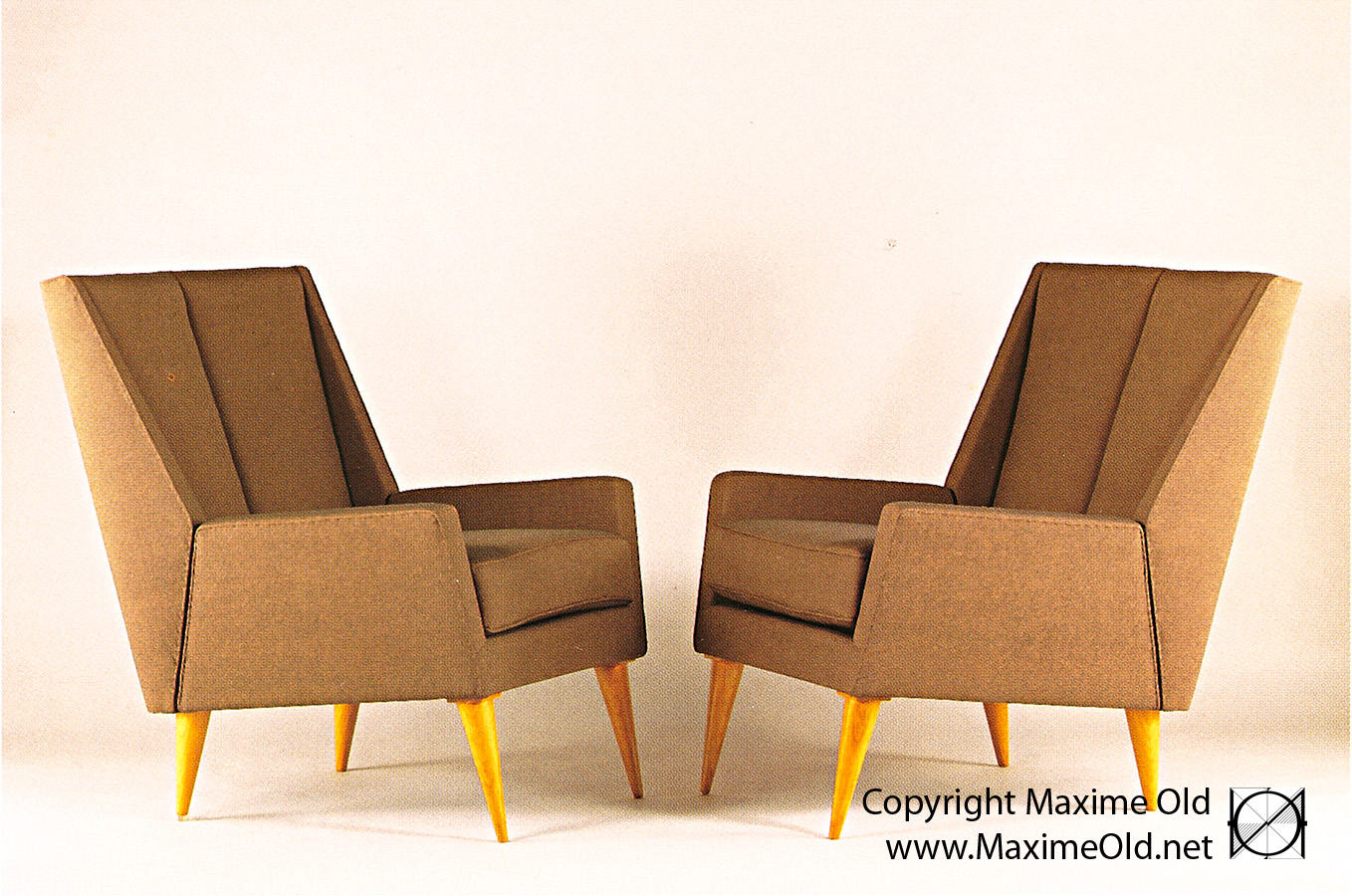 Paquebot France Relaxing Armchair SAD 1959 : Maxime Old - Modern Art Furniture Designer