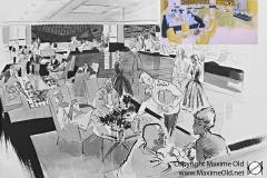 par Maurice Paulin Grand Salon des Premières Classes Paquebot France Maxime Old Créateur de Meubles Modernes d'Art - Modern Art Furniture Designer