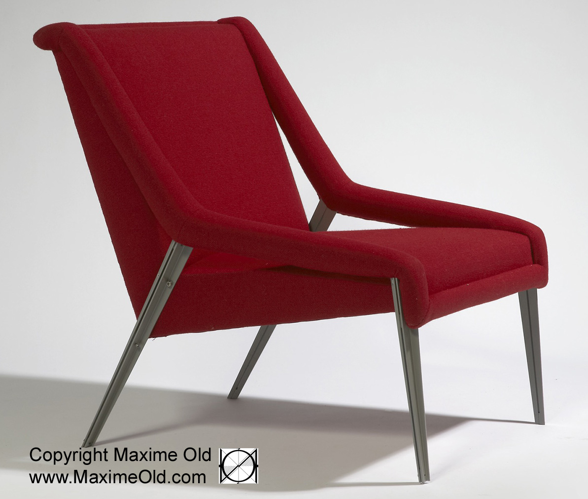 Paquebot France Light Armchair: Maxime Old, Modern Art Furniture Designer