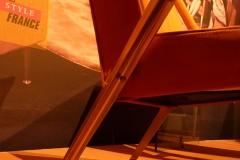 Détail pied arrière Fauteuil Léger Paquebot France Maxime Old Créateur de Meubles Modernes d'Art - Modern Art Furniture Designer