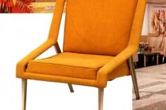 Exemplaire moutarde Fauteuil Léger Paquebot France Maxime Old Créateur de Meubles Modernes d'Art - Modern Art Furniture Designer