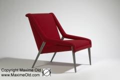 Fauteuil Léger Paquebot France actuel rouge Maxime Old Créateur de Meubles Modernes d'Art - Modern Art Furniture Designer