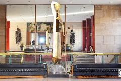 Escalier R Subes, sculptures R Couturier et JP Demarchi Halle aux Toiles de Rouen Maxime Old 1960