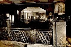 Ruhlmann Hall du grand escalier d'honneur, paquebot Ile de France. Ferronnerie de Raymond Subes.