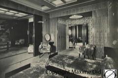 Paquebot Atlantique apt de Luxe Vue Chambre vers salon et dressing Maxime Old Créateur de Meubles Modernes d'Art - Modern Art Furniture Designer