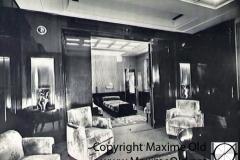 Paquebot Atlantique apt de Luxe Vue Salon vers chambre. Maxime Old Créateur de Meubles Modernes d'Art - Modern Art Furniture Designer