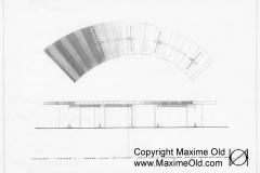 Cruise liner France Wave Table drawing - Maxime Old Modern Art Furniture