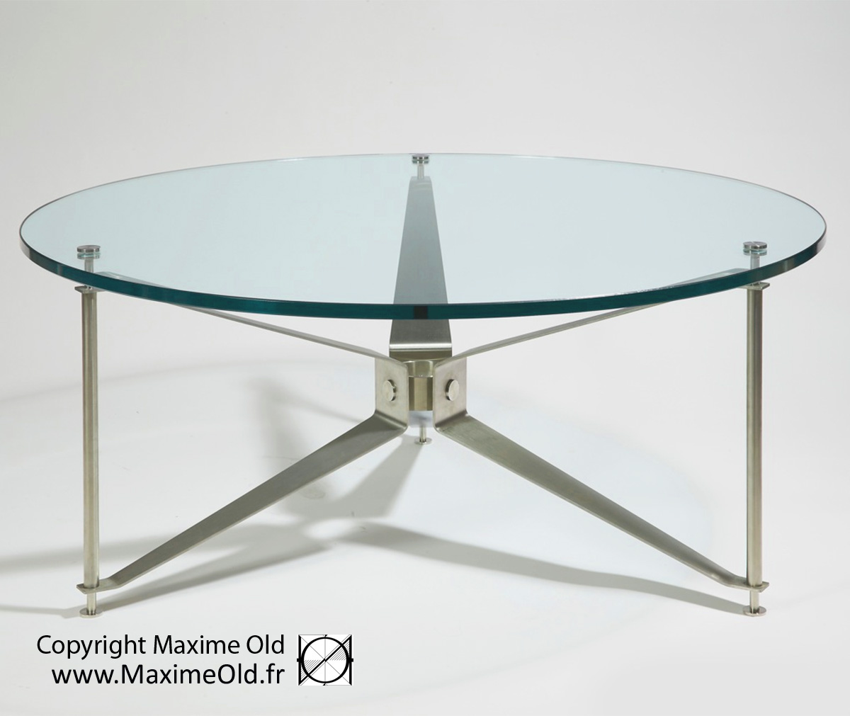 Coffee-Side Tables: Maxime Old Paquebot France Propeller Table