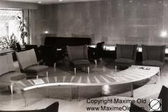 Grande Table Vague zigzag et marquetterie claire Maxime Old Meubles Modernes d'Art