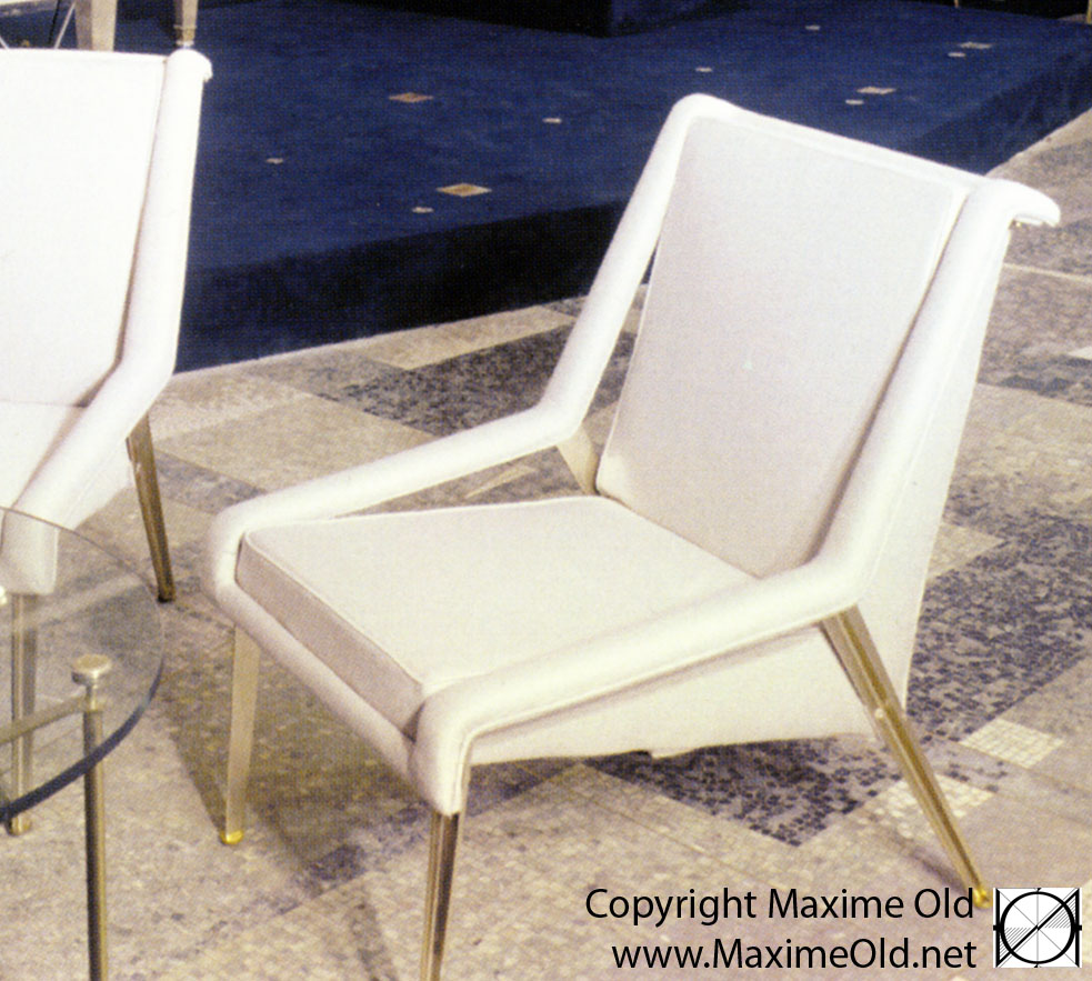 Maxime Old Modern Art Furniture Designer, Outstanding Customer Relationship : Light Armchair, cruiseliner France variation