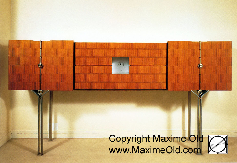 Maxime Old Modern Art Furniture Designer, Outstanding Customer Relationship : Monogramed Cabinet