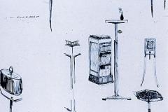 012 Ruhlmann Carnets de croquis de meubles et lampadaires