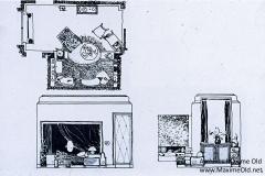 017 Ruhlmann Plan et élévations accompagnant une maquette