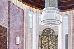 006 Ruhlmann Projet gouaché du Grand Salon de l'Hôtel du Collectionneur 2/2