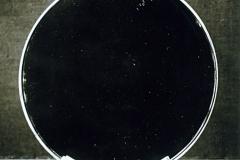 060 Ruhlmann Miroir rond sur support de bronze argenté 1/2