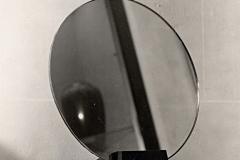 062 Ruhlmann Miroir rond sur support en bois massif