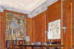 007 Ruhlmann Projet gouaché de la Salle à manger de l'Hôtel du Collectionneur