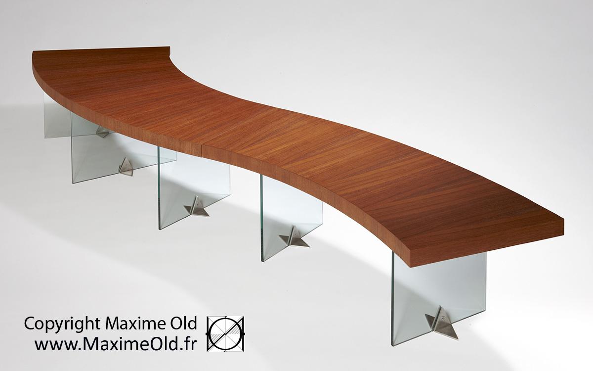 Table Vague Maxime Old paquebot France par Maxime Old Concept