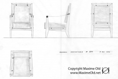 Dessin Fauteuil 376 Maxime Old