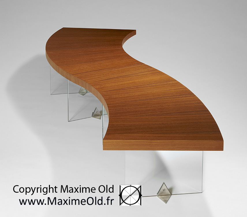 Maxime Old cruise-liner France Wave Table by Maxime Old Concept