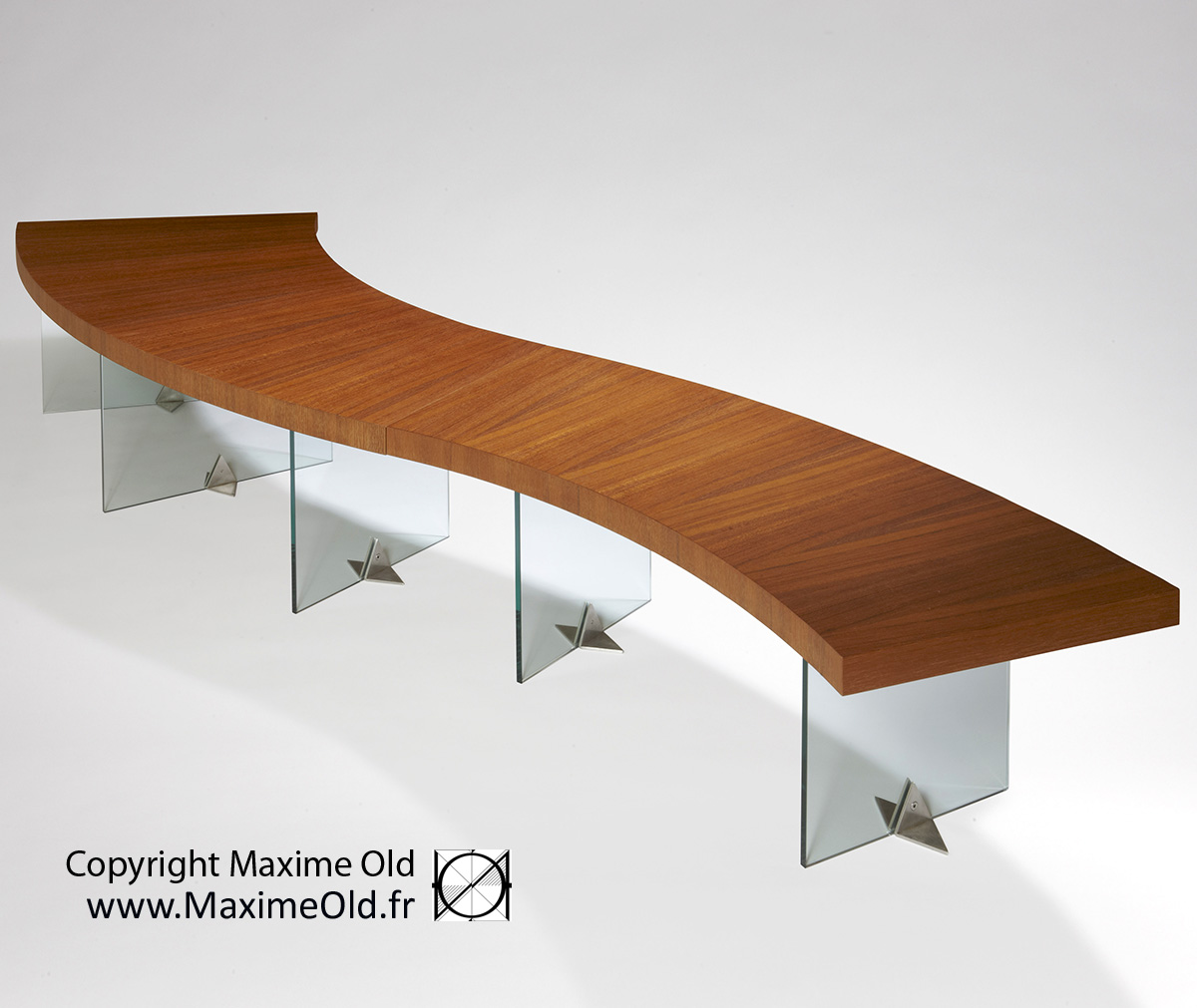 Coffee-Side Tables: Maxime Old Paquebot France Wave Table