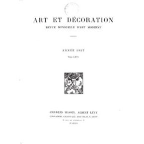 Art et Décoration 1936 1937